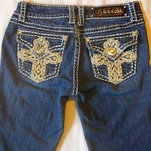 L.A. Idol USA Embellished Denim Blue Jeans 3